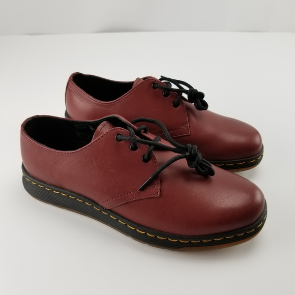 81cd34a5809 Dr Martens Cavendish Lite Red Leather Lace Up NEW